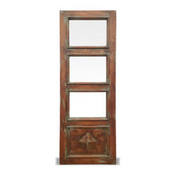 Koenig Collection - Old World Natural Door Edwards, Natural Antiqued Oak With Celeste Distressed - Old World Natural Door Edwards, Natural Antiqued Oak with Celeste Distressed