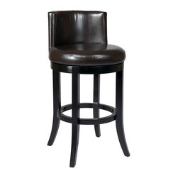 """Office Star - Office Star Metro 30"""" Swivel Eco Leather Barstool in Cream - Features:"""