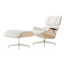 Herman Miller - Herman Miller   Eames® Lounge Chair with Ottoman, White Ash - New introduction, 2011. Original design by Charles & Ray Eames, 1956.