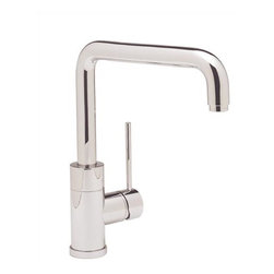 Blanco Purus I Kitchen Sink Faucet - Inspired by modern architecture, this faucet has a personality all its own - also with the sidespray option. With its solid pillar base, discreet side lever, curved angles and color-coded supply lines, this style adds a touch of elegance. | Features: Coordinates tastefully with SILGRANIT II sinks. AB1953 Lead Free Compliant. Lever handle. Solid brass body. Ceramic disk cartridge. Extra long supply lines. 2.2 GPM flow rate. Installation in a 1-3/8'' hole. Limited Lifetime Warranty | Available at ShopStudio41.com