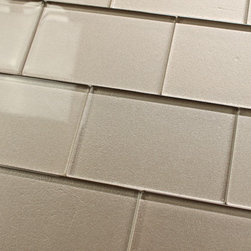 Elements Coral 4x6 Glass Subway Tiles, 10 Square Feet - A warm grey 4x6 glass subway tile with subtle color variation from tile to tile. Arrange them in the pattern of your choice! These one of a kind glass subway tiles have a textured painted backing that ads a touch of character without overpowering a room. Elements is available here on Houzz in 6 great color options in both 4x6 and 2x12 formats.