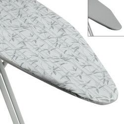 """Home Prod. Int'l North America Inc. - Ultimate Quality Ironing Board Cover and Reversible Pad in Bamboo/Sage - Ironing board cover fits all standard ironing boards measuring 15"""" W x 54"""" L. The 1/2"""" thick pad is reversible, adding twice the life to the pad."""
