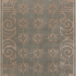 Surya - Surya Paris PRS-2000 (Gray, Taupe) 5' x 8' Rug - This Hand Tufted rug would make a great addition to any room in the house. The plush feel and durability of this rug will make it a must for your home. Free Shipping - Quick Delivery - Satisfaction Guaranteed