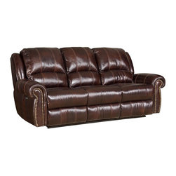 Hooker Furniture - Hooker Furniture Saddle Brown Power Motion Sofa - Developed by one of America's premier manufacturers to offer quality furniture at affordable prices. Each piece is meticulously hand-crafted using the most exquisite leathers in the world. The Saddle Brown Power Motion Sofa is crafted using 068 Saddle Brown (Medium Brown) leather/vinyl match.
