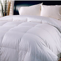 None - Cotton 250 Thread Count All Season Warm Down Blend Comforter - Stay warm in a time-honored way with this traditional down blend comforter. The all-natural fill provides superior insulation,and the baffle-box construction prevents cold spots. The 100 percent cotton cover adds a further touch of comfort.
