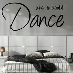 ColorfulHall Co., LTD - Wall Decals for Kids When In Doubt Dance - Wall Decals for Kids When In Doubt Dance