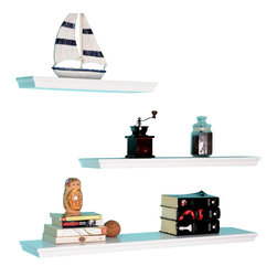 Welland - Dover 3-Piece Display Shelves Set - Sleek and lightweight, these three shelves are each a different length, allowing you to create a custom display area for your treasures. Stagger them to show of a collection of multisized vases or frames, or stack vertically to create a pyramid display.