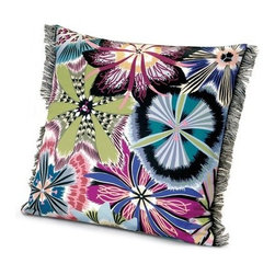 Missoni Home - Missoni Home | Passiflora Indigo Pillow 16x16 - Design by Rosita Missoni.