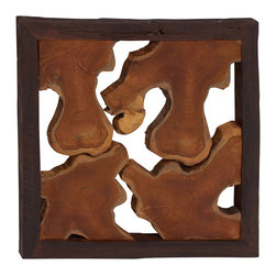 Simply Abstract Wood Teak Wall Panel - Description: