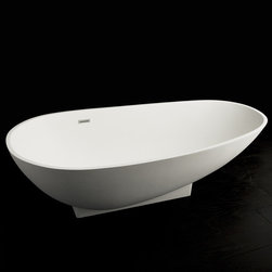 Lacava Ovale Bathtub - Gorgeous sleek detailing on this modern tub, perfect for that zen retreat.