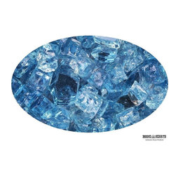 "Boone Hearth - 10 LB Bag of 1/4"" Blue Lagoon Reflective Fire Glass - 10 LB Bag of 1/4"" Blue Lagoon Reflective Fire Glass"