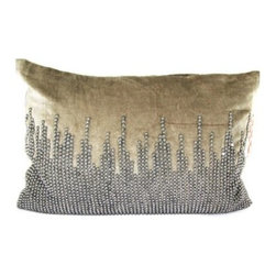 Design Accents Velvet Pillow - 20L x 14W in. - Like jewelry for your home, the Design Accents Velvet Pillow - 20L x 14W in. adds just the right touch of bling and glamour. The high-quality velvet cover features hand sewn details and is accented with jewels. This modern design is available in a variety of colors so you can get just the right look.