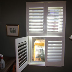 Denver residence double hung shutters - Colorado Shade and Shutter