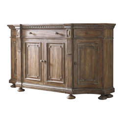 Hooker Furniture - Hooker Furniture Sorella Shaped Credenza in Warm Brown - Hooker Furniture - Buffet Tables and Sideboards - 510785001