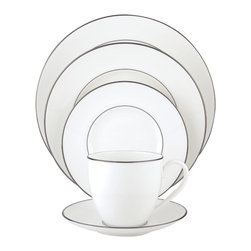 Lenox - Lenox Continental Dining Platinum 5-Piece Dinnerware Place Setting - Fine china that's safe to use in both the microwave and the dishwasher? Certainly - if it's Lenox Microsafe. And this Lenox pattern is,making it as functional as it is beautiful. Use Continental dining platinum with any flatware pattern