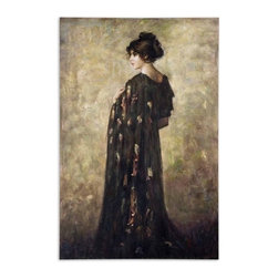 Uttermost - Uttermost Contemplation Lady 72x48 Canvas Art - This hand painted oil on canvas is stretched and attached to wood stretching bars. Due to the handcrafted nature of this artwork, each piece may have subtle differences.