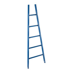 Holly & Martin - Holly & Martin Zhowie Storage Ladder - This unique sculpture features five rungs for displaying your favorite literary works of art or scarves and accessories. Place this ladder in your bathroom to hold your towels and let the navy blue finish and tapered design make a decorative statement.