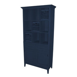 Trade Winds - New Trade Winds China Cabinet Blue Painted - Product Details