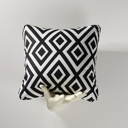 Homeware - Homeware Licorice Accent Pillows - Set of 2 - HWP011-18-125LIC - Shop for Pillows from Hayneedle.com! Smack the room around with the bold Homeware Licorice Accent Pillows - Set of 2. The intensity of this black-and-white diamond print will invigorate and energize a contemporary space whether you're accenting against bright color or keeping to a strict code of black and white. Not available for sale in or delivery to the state of California.About HomewareHomeware is driven by an innovative spirit and a passion to change the way America buys and lives with furniture. Homeware wants to save you from shopping in a big box bringing home a smaller box and ultimately being psychologically harmed by your encounter with a slew of parts and incomprehensible assembly instructions. Instead of that Homeware supports your choice to shop in your jammies and Homeware is determined to support your success. Homeware chairs are made to live and move with you. They come to you in two pieces within two special boxes and regardless how rudimentary your handyman skills may be YOU can assemble them without tools. Within minutes they assure you you will be enjoying a chair that's as sturdy and solid as any you've beheld. The secret? It's designer and engineer Jon Koch's ingenious and revolutionary fastening device which makes possible speedy chair assembly by the mechanically uninitiated. Homeware keeps a stable of furniture savants on call 24-7 to answer your questions including but not limited to questions about their chairs and pillows and they stand behind their products with bravado.