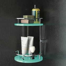 Nameeks - Nameeks | Corner Shower Basket 4583 - Made in Italy. A part of Toscanaluce by Nameek's.Give your bath a stylish upgrade with the Corner Shower Basket 4583. This shower caddy has two-tiered round shelves that are spacious enough to hold all your shower products. Its plexiglass and brass construction offers durability. Whatever décor theme you have in your bath, this shower caddy will blend in easily with a wide selection of colors to choose from. Product Features: