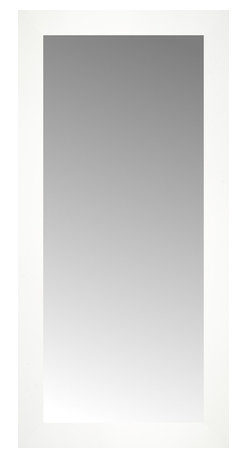 """Posters 2 Prints, LLC - 14"""" x 28"""" White Wide Cube Custom Framed Mirror - 14"""" x 28"""" Custom Framed Mirror made by Posters 2 Prints. Standard glass with unrivaled selection of crafted mirror frames.  Protected with category II safety backing to keep glass fragments together should the mirror be accidentally broken.  Safe arrival guaranteed.  Made in the United States of America"""