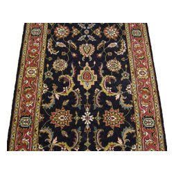 Momeni - Persian Garden 30 Inch Runner Traditional Stair Runner Charcoal - Stair & Hallway Runners Are Sold By The Linear Foot!