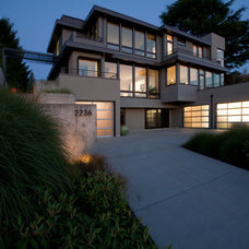 Contemporary Exterior by Matthew King Construction