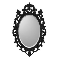 Paragon - Black Ornate - Mirrors Decorative - Each product is custom made upon order so there might be small variations from the picture displayed. No two pieces are exactly alike.