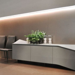 Clio Sideboard - Sideboard, wood or lacquered wooden frame, doors provided with blumotion system.