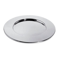 Alessi - Alessi Placemat - Give each setting at your table a classy upgrade with these round, stainless steel placemats. These mirror polished, modern placemats will really let your style shine.