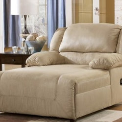 Hogan Khaki 2-arm Press Back Chaise