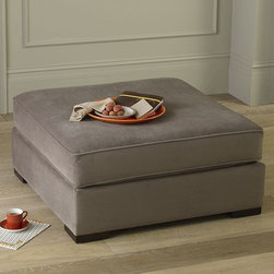 Walton Ottoman - Casual comfort. This adaptable, multifunctional piece fills any number of roles, from footrest to coffee table. In a pinch, it even provides some extra seating.