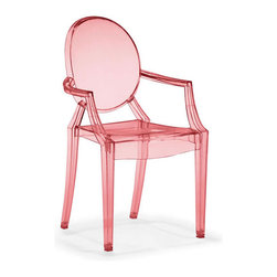 ZuoMod - Baby Anime Chair, Transparent Red - The Baby Anime chair fits in every child's room in need of modern, classic style. Molded from polycarbonate or lexan, the Baby Anime has UV resistant compound mixed in, it serves the function and design.
