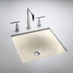 KOHLER - KOHLER K-2827-47 Iron/Tones Cast Iron Undercounter or Self Rimming - KOHLER K-2827-47 Iron/Tones Cast Iron Undercounter or Self Rimming in Almond