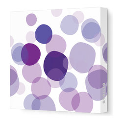 """Avalisa - Imagination - Bubbles Stretched Wall Art, 28"""" x 28"""", Purple - Break out the bubbly! Hang these varying tones of bright translucent colors to make a light and airy style statement in your favorite room."""