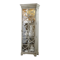 Hooker Furniture - Hooker Furniture Melange Celeste Display Cabinet - Hooker Furniture - Curio Cabinets - 63850036 - Come closer to Melange and you will discover something unexpected an eclectic blending of colors textures and materials in a vibrant collection of one-of-a-kind artistic pieces.