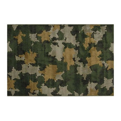 Fun Rugs - Kids Rug in Camouflage - Your child's room is a natural extension of them. Add these innovative designs from LA Rug to spruce up any child's decor.