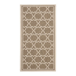 Safavieh - Safavieh Courtyard Transitional Rug X-3-242-6196YC - Safavieh takes classic beauty outside of the home with the launch of their Courtyard Collection. Made in Belgium with enhanced polypropylene for extra durability, these rugs are suitable for anywhere inside or outside of the house. To achieve more intricate and elaborate details in the designs, Safavieh used a specially-developed sisal weave.