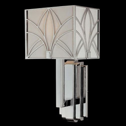Metropolitan Lighting - Storyboard Wall Sconce No. N6921 by Metropolitan Lighting - The Metropolitan Storyboard Wall Sconce No. N6921 sports an incredible design that conveys zing to your room while illuminating it with congenial luminosity. The Storyboard Wall Sconce No. N6921 features Etched White glass shade and Chrome finish.Metropolitan Lighting, part of Minka Group, manufactures old world inspired, intricately detailed lighting in transitional and traditional styles as well as modern and contemporary designs.The Metropolitan Storyboard Wall Sconce No. N6921 is available with the following:Included Features:Etched White glass shade.Chrome finish.Wall plate.Walt Disney Signature.Lighting: One 100 Watt 120 Volt Medium Base Incandescent lamp (not included).Shipping:This item usually ships in 48 hours.