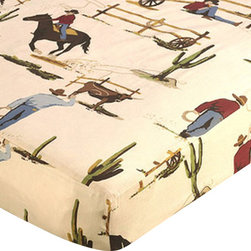 Sweet Jojo Designs - Wild West Cowboy & Horse Print Crib & Toddler Sheet by Sweet Jojo Designs - The Wild West Cowboy & Horse Print Crib & Toddler Sheet by Sweet Jojo Designs, along with the  bedding accessories.