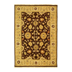 Safavieh - Brown and Beige Traditional Wool Pile Rug (10 ft. x 14 ft.) - Size: 10 ft. x 14 ft. Flat weave. 100% wool pile. Made In India. You are sure to love the antique inspired floral pattern of this quality rug. Made from accent a variety of decor themes, the ivory and brown color scheme will easily coordinate with your existing interior design. Hand tufted from 100% wool for maximum quality.