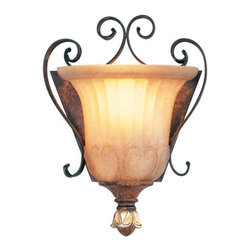 Livex Lighting - Livex Lighting-8560-63-Villa Verona - One Light Wall Sconce - Height: 9.5""