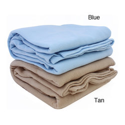 None - Alta Anti-pill Fleece Blanket - Snuggle into bed, and enjoy the cozy, lightweight warmth of the Alta anti-pill fleece blanket. Available in twin, full, queen and king sizes, and in blue and tan colors. machine-washable. Used in many fine hotels.