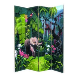 Wayborn 2207 Elephant in Jungle Screen Room Divider - About WaybornWayborn Furniture & Accessories Inc., is a leading importer and wholesaler of decorative home accessories, located in City Of Industry, Calif. In the early years, the foundation of Wayborn's business was selling cormandel screens and black lacquer cabinets. Since then, it has expanded its line to fulfill the needs of the ever-changing home furnishings trend. Its products are handmade from natural arts and artifacts, and are manufactured and imported from China. Wayborn is committed to providing superior service to retailers, while maximizing the value of the products it supplies.