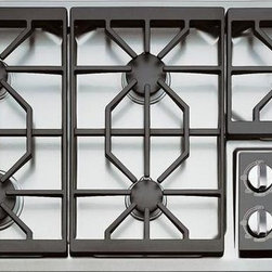 """Wolf - Gas Cooktops - Wolf 36"""" Gas Cooktop, Stainless Steel, CT36GS"""