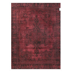 Pasargad - Vintage Persian Overdyed Rug - This rug has a bold, contemporary look that will add stylish flair to any decor. Each overdyed rug is stripped of its original colors, then dyed again in vibrant hues, to create a unique and one of a kind piece that adds a visual modern statement. The rug is handcrafted out of vintage Persian carpets with a combination of colors combining to form a unique color and texture.