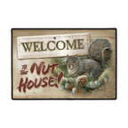 240-Life After Death Doormat - 100% Polyester face, permanently dye printed & fade resistant, nonskid rubber backing, durable polypropylene web trim. Use on the porch or near your back entrance to the house. Indoor and outdoor compatible rugs that stand up to heavy use and weather effects