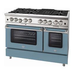 "BlueStar Platinum Series: 48"" Range - 48"" BlueStar Platinum Range in Pastel Turquoise (RAL 6034)"