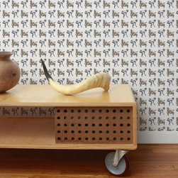 Aimée Wilder Sumo Wallpaper - Sumo Wallpaper by Aimee Wilder. You know even before seeing the print that if Aimee Wilder did it, it's a hit. And the Sumo wallpaper is no exception. Adding a playful vibe to a bedroom or even funky living room, this design lighten things up and add unusual detail.