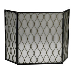 Cyan Design - Cyan Design Gold Mesh Fireplace Screen - Gold Mesh Fireplace Screen